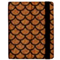 SCALES1 BLACK MARBLE & RUSTED METAL Apple iPad 2 Flip Case View2
