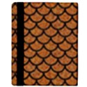 SCALES1 BLACK MARBLE & RUSTED METAL Apple iPad 2 Flip Case View3