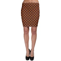 Scales1 Black Marble & Rusted Metal Bodycon Skirt