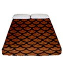 SCALES1 BLACK MARBLE & RUSTED METAL Fitted Sheet (Queen Size) View1
