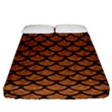 SCALES1 BLACK MARBLE & RUSTED METAL Fitted Sheet (King Size) View1