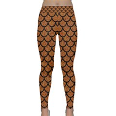 Scales1 Black Marble & Rusted Metal Classic Yoga Leggings