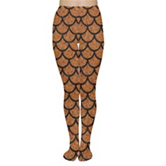Scales1 Black Marble & Rusted Metal Women s Tights