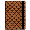 SCALES1 BLACK MARBLE & RUSTED METAL Apple iPad Pro 9.7   Flip Case View2