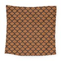 SCALES1 BLACK MARBLE & RUSTED METAL Square Tapestry (Large) View1