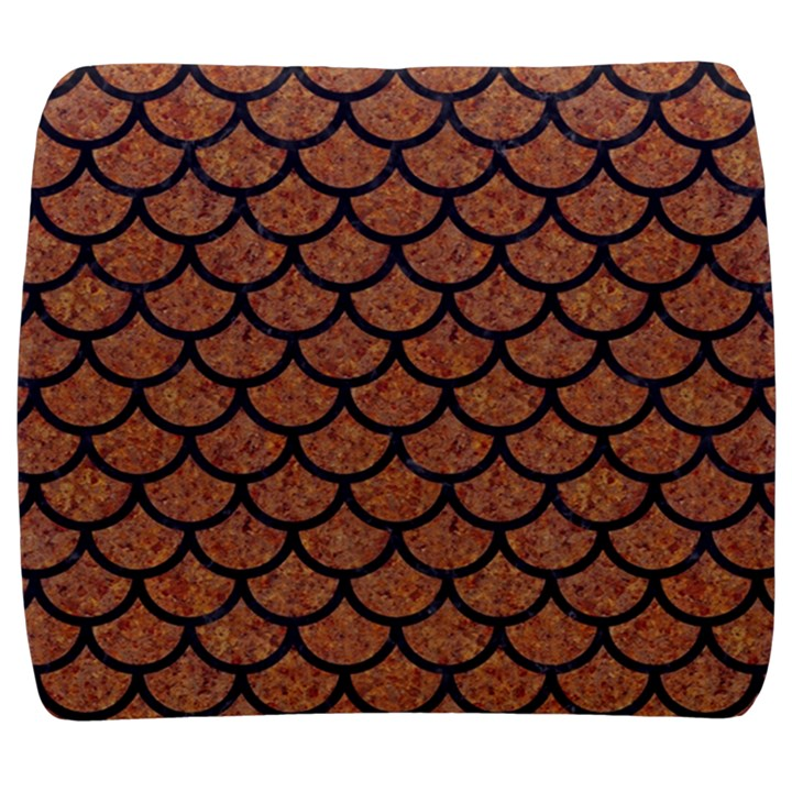 SCALES1 BLACK MARBLE & RUSTED METAL Back Support Cushion
