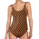 SCALES1 BLACK MARBLE & RUSTED METAL Tankini Set View1