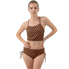 Scales1 Black Marble & Rusted Metal Mini Tank Bikini Set