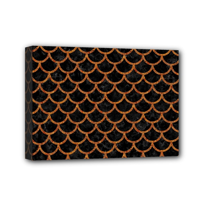 SCALES1 BLACK MARBLE & RUSTED METAL (R) Mini Canvas 7  x 5