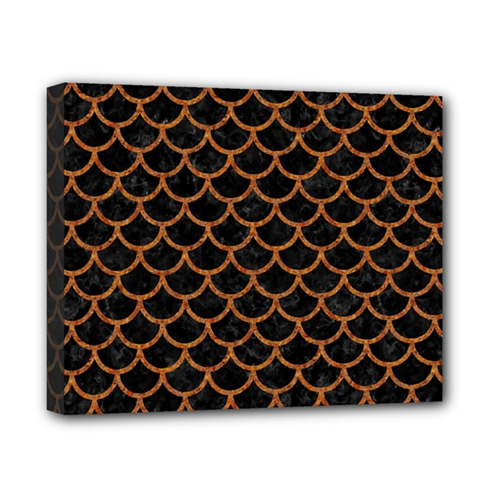 SCALES1 BLACK MARBLE & RUSTED METAL (R) Canvas 10  x 8