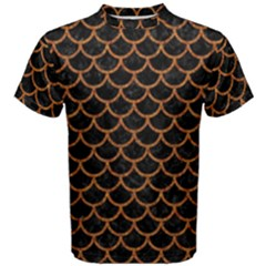 Scales1 Black Marble & Rusted Metal (r) Men s Cotton Tee