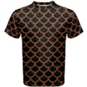 SCALES1 BLACK MARBLE & RUSTED METAL (R) Men s Cotton Tee View1
