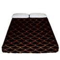 SCALES1 BLACK MARBLE & RUSTED METAL (R) Fitted Sheet (California King Size) View1