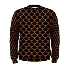 Scales1 Black Marble & Rusted Metal (r) Men s Sweatshirt