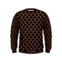 SCALES1 BLACK MARBLE & RUSTED METAL (R) Kids  Sweatshirt View1