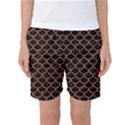 SCALES1 BLACK MARBLE & RUSTED METAL (R) Women s Basketball Shorts View1