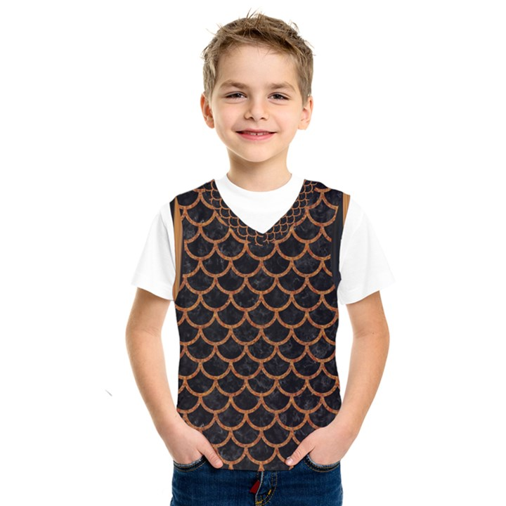 SCALES1 BLACK MARBLE & RUSTED METAL (R) Kids  SportsWear