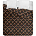 SCALES1 BLACK MARBLE & RUSTED METAL (R) Duvet Cover Double Side (California King Size) View1