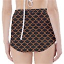 SCALES1 BLACK MARBLE & RUSTED METAL (R) High-Waisted Bikini Bottoms View2