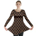 SCALES1 BLACK MARBLE & RUSTED METAL (R) Long Sleeve Tunic  View1