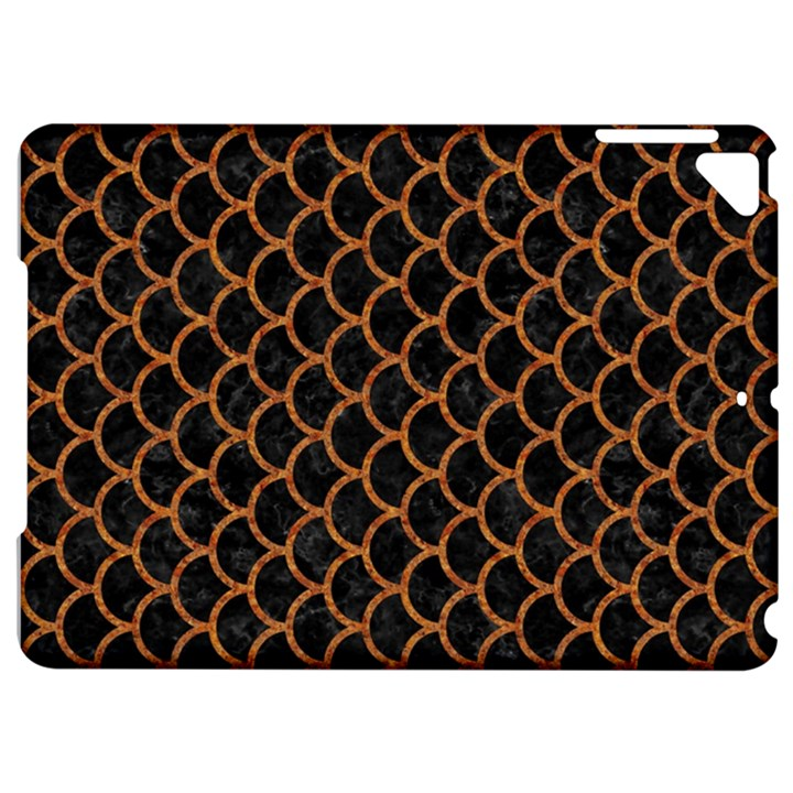 SCALES1 BLACK MARBLE & RUSTED METAL (R) Apple iPad Pro 9.7   Hardshell Case
