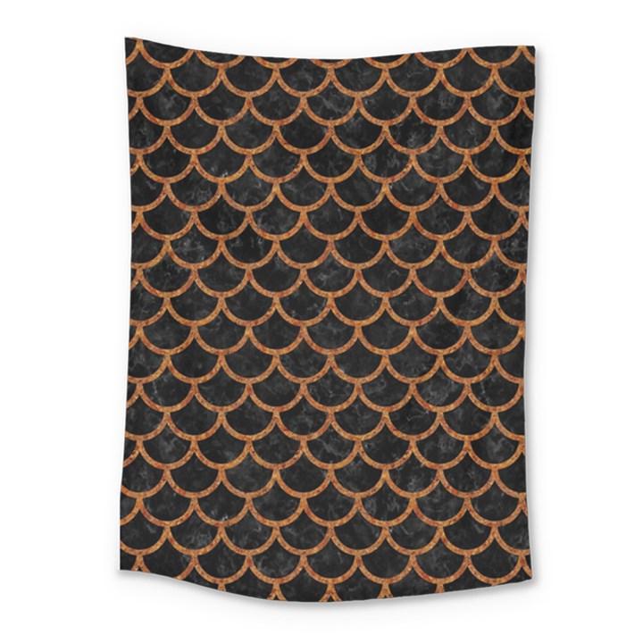 SCALES1 BLACK MARBLE & RUSTED METAL (R) Medium Tapestry