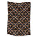 SCALES1 BLACK MARBLE & RUSTED METAL (R) Large Tapestry View1