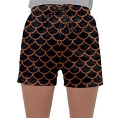 Scales1 Black Marble & Rusted Metal (r) Sleepwear Shorts