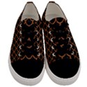 SCALES1 BLACK MARBLE & RUSTED METAL (R) Men s Low Top Canvas Sneakers View1
