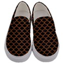 SCALES1 BLACK MARBLE & RUSTED METAL (R) Men s Canvas Slip Ons View1