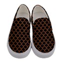 SCALES1 BLACK MARBLE & RUSTED METAL (R) Women s Canvas Slip Ons View1