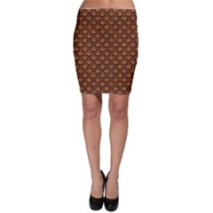 Scales2 Black Marble & Rusted Metal Bodycon Skirt