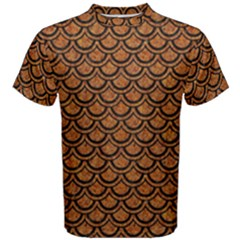 Scales2 Black Marble & Rusted Metal Men s Cotton Tee