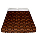 SCALES2 BLACK MARBLE & RUSTED METAL Fitted Sheet (California King Size) View1