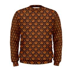 Scales2 Black Marble & Rusted Metal Men s Sweatshirt