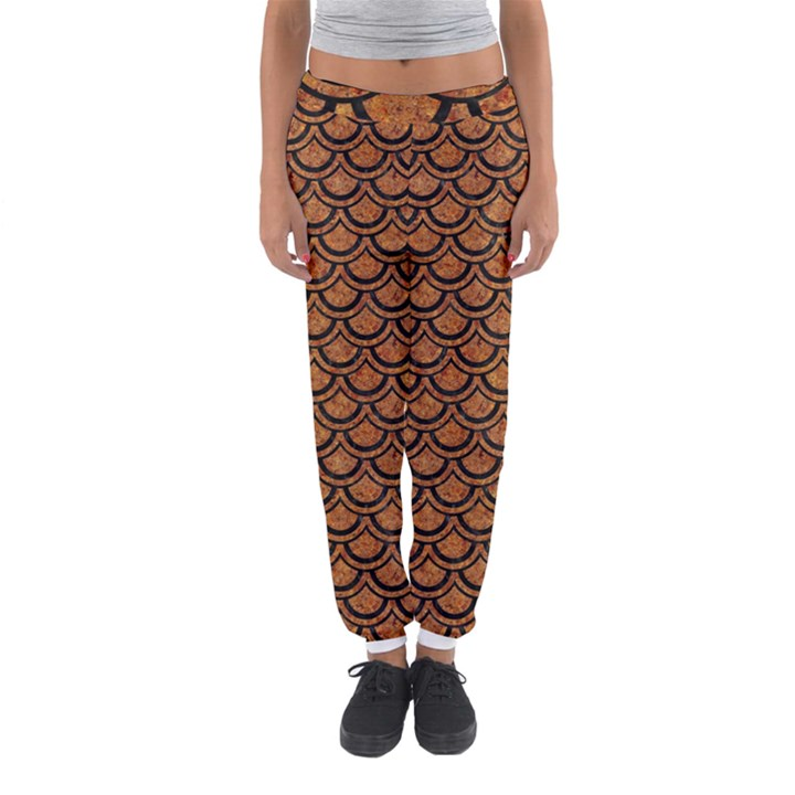 SCALES2 BLACK MARBLE & RUSTED METAL Women s Jogger Sweatpants