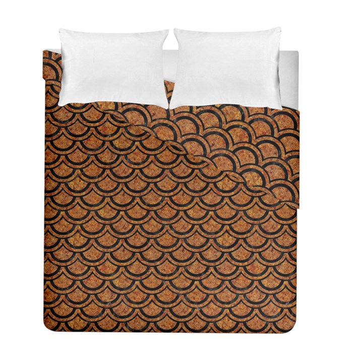 SCALES2 BLACK MARBLE & RUSTED METAL Duvet Cover Double Side (Full/ Double Size)