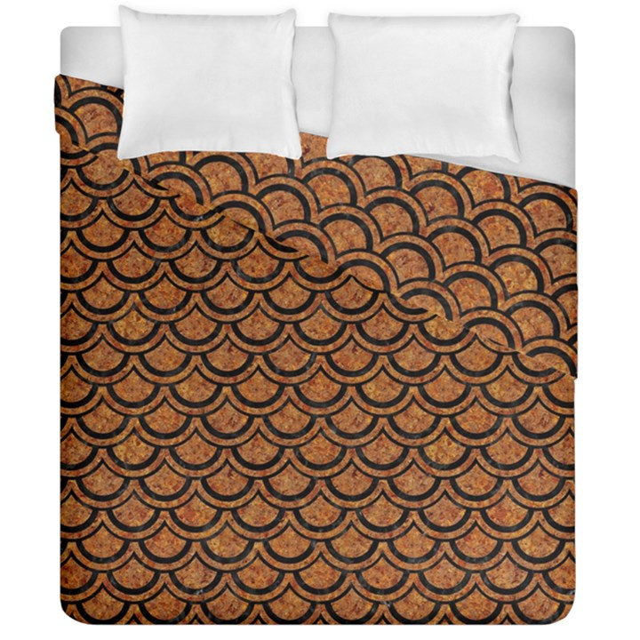 SCALES2 BLACK MARBLE & RUSTED METAL Duvet Cover Double Side (California King Size)
