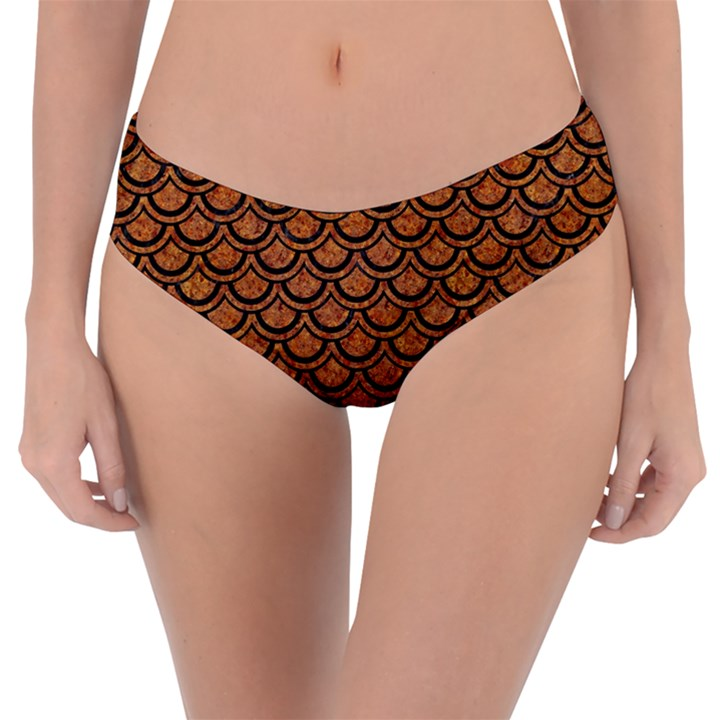 SCALES2 BLACK MARBLE & RUSTED METAL Reversible Classic Bikini Bottoms