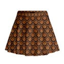 SCALES2 BLACK MARBLE & RUSTED METAL Mini Flare Skirt View1
