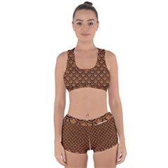 Scales2 Black Marble & Rusted Metal Racerback Boyleg Bikini Set