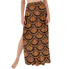 Scales2 Black Marble & Rusted Metal Maxi Chiffon Tie Up Sarong