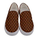 SCALES2 BLACK MARBLE & RUSTED METAL Women s Canvas Slip Ons View1