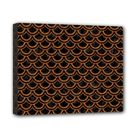 Scales2 Black Marble & Rusted Metal (r) Canvas 10  X 8