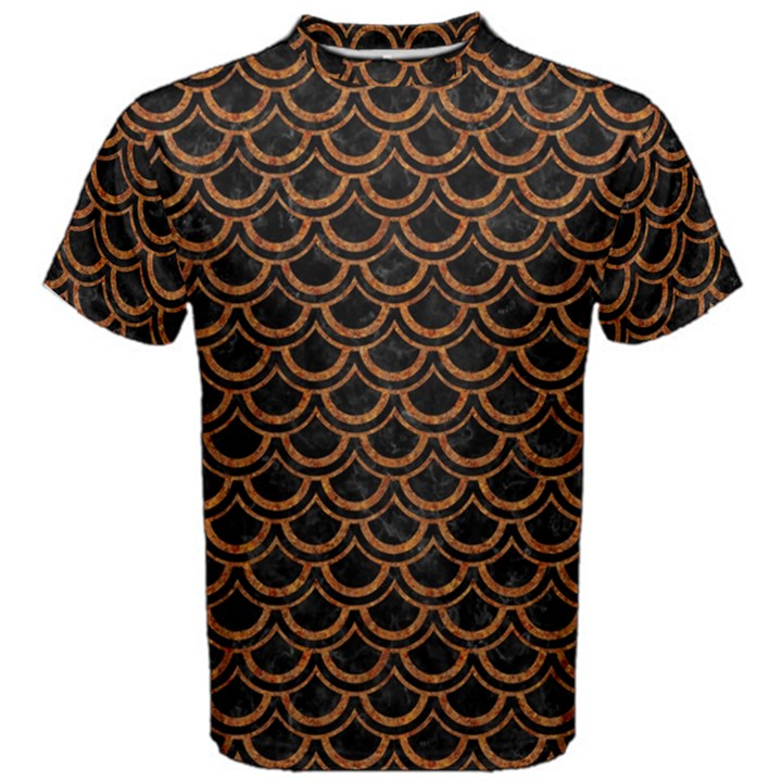 SCALES2 BLACK MARBLE & RUSTED METAL (R) Men s Cotton Tee