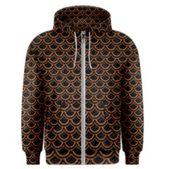 Scales2 Black Marble & Rusted Metal (r) Men s Zipper Hoodie