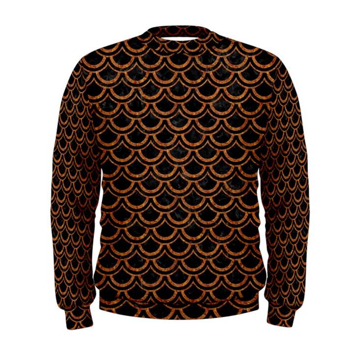 SCALES2 BLACK MARBLE & RUSTED METAL (R) Men s Sweatshirt