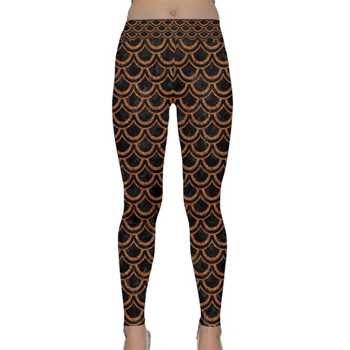 SCALES2 BLACK MARBLE & RUSTED METAL (R) Classic Yoga Leggings
