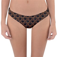 Scales2 Black Marble & Rusted Metal (r) Reversible Hipster Bikini Bottoms