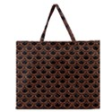 SCALES2 BLACK MARBLE & RUSTED METAL (R) Zipper Large Tote Bag View1
